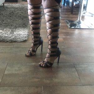 Nasty Gal Gladiator Heels NWOT